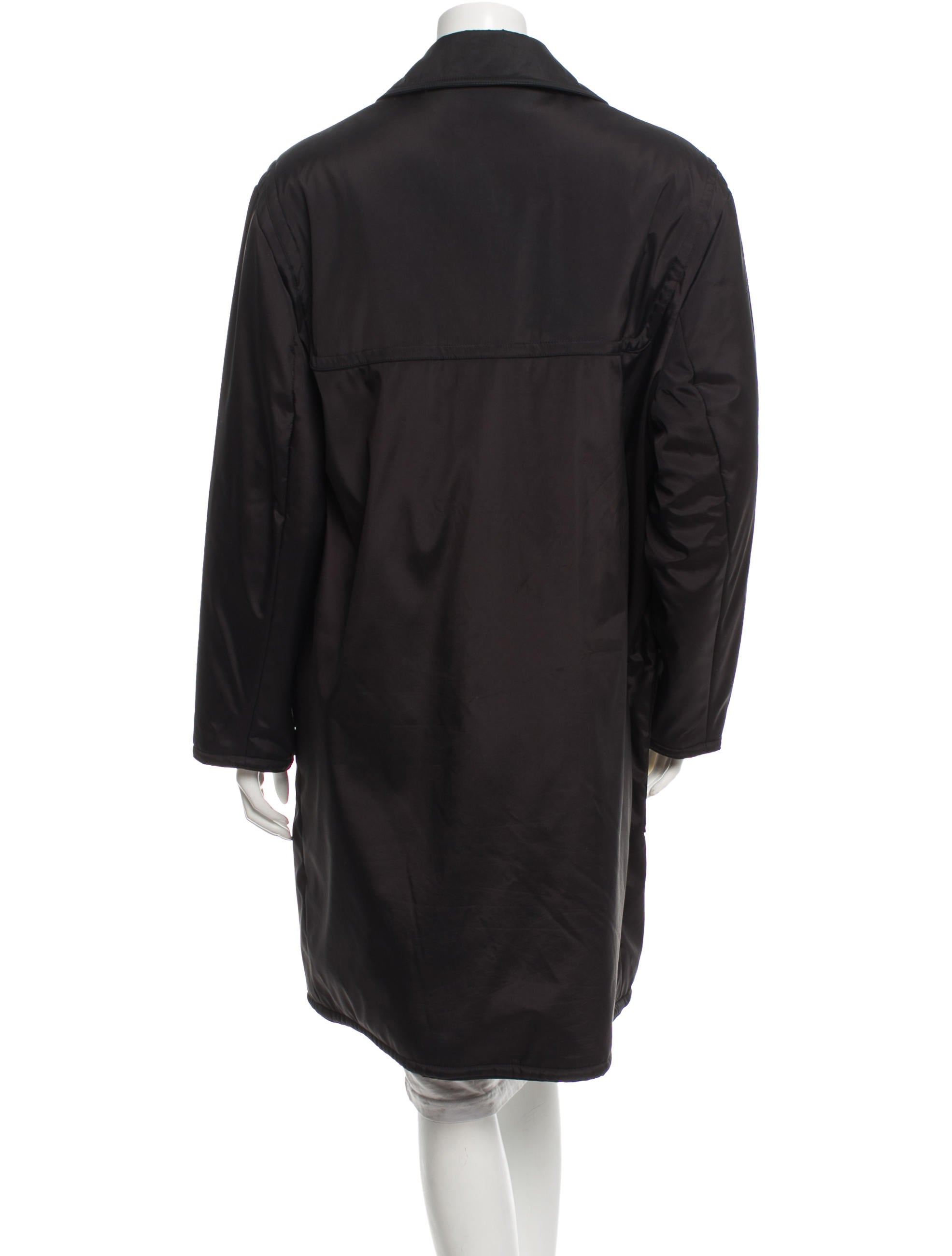 Black Nylon Coat 116