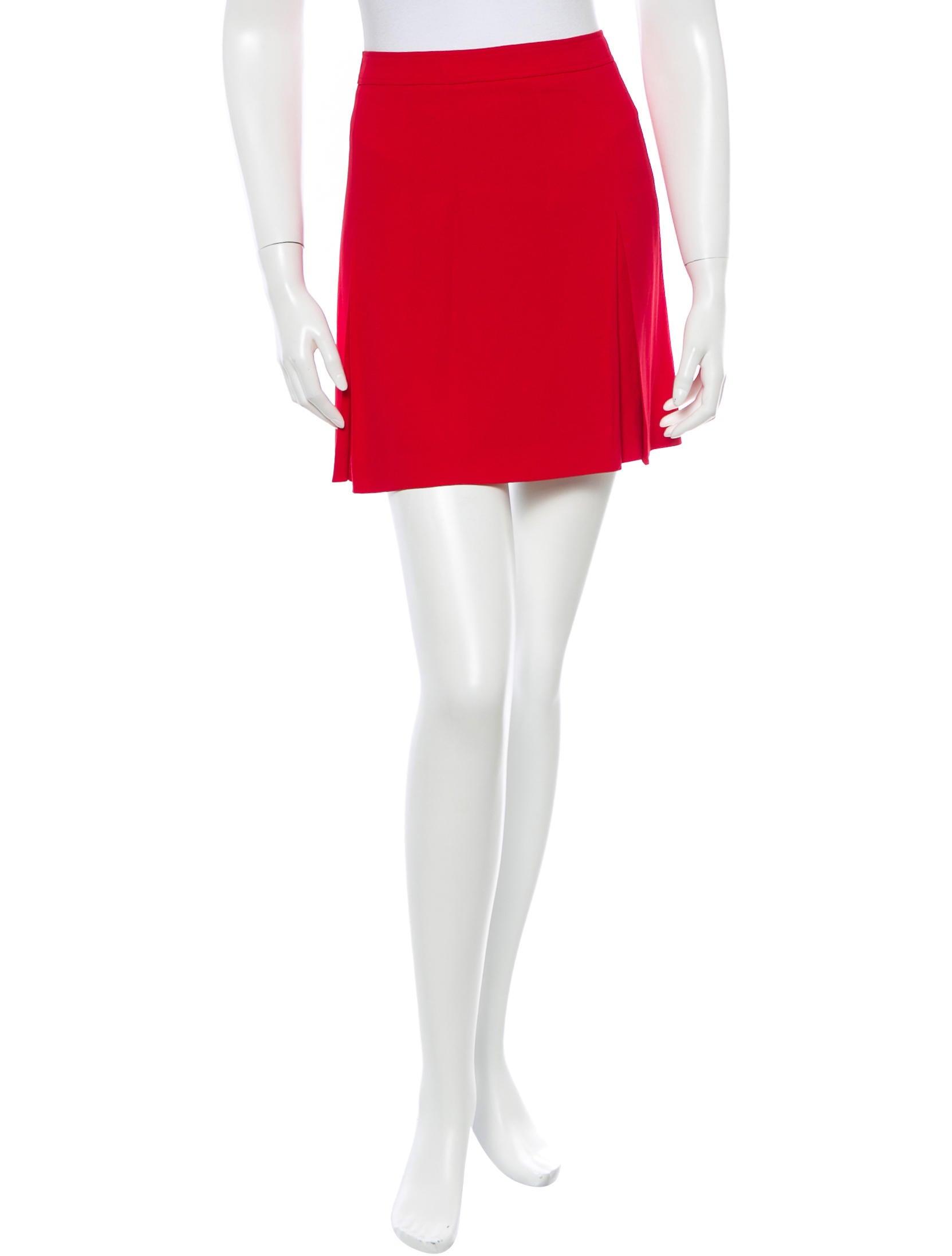 burberry pleated mini skirt clothing bur44384 the