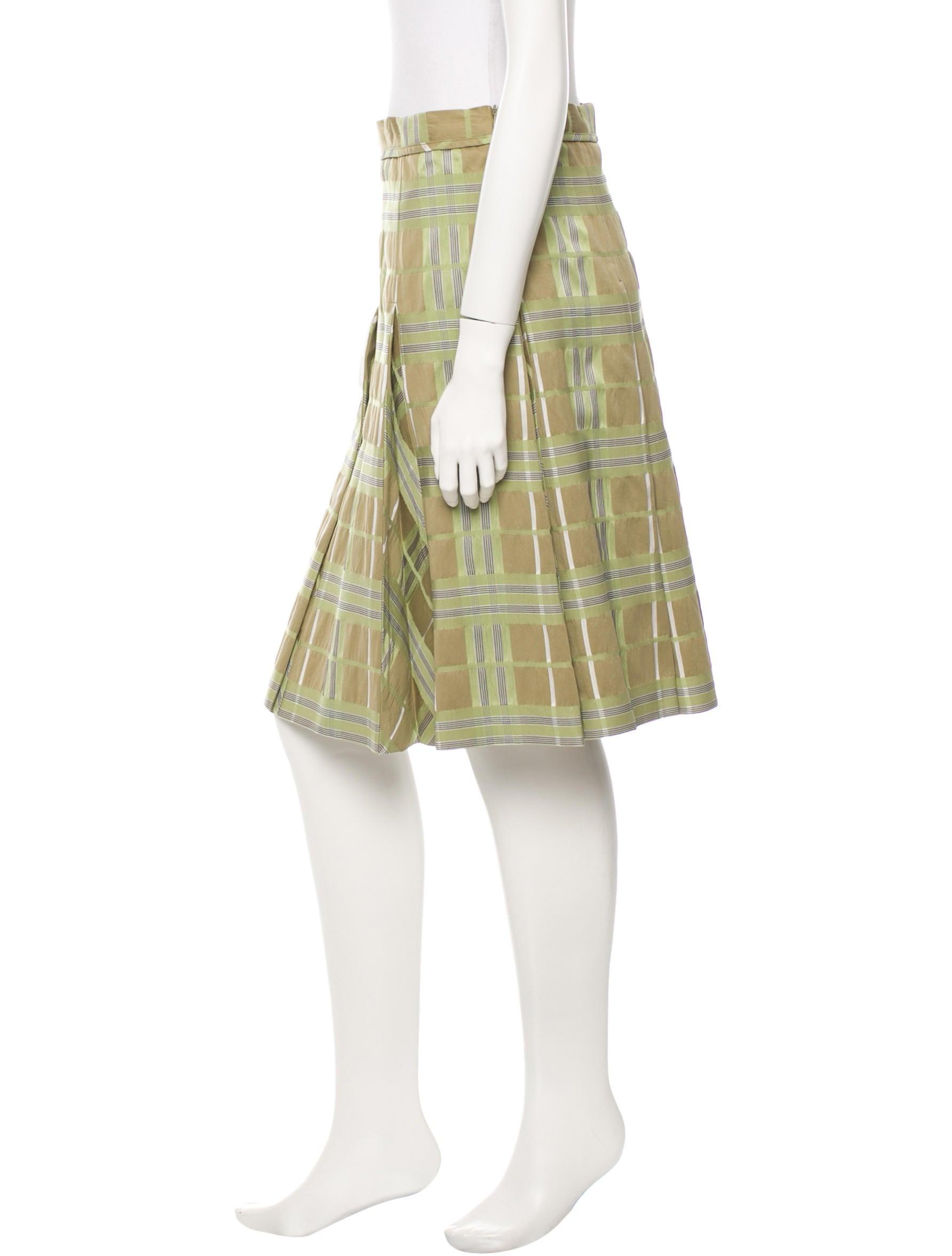 burberry pleated check skirt clothing bur44404