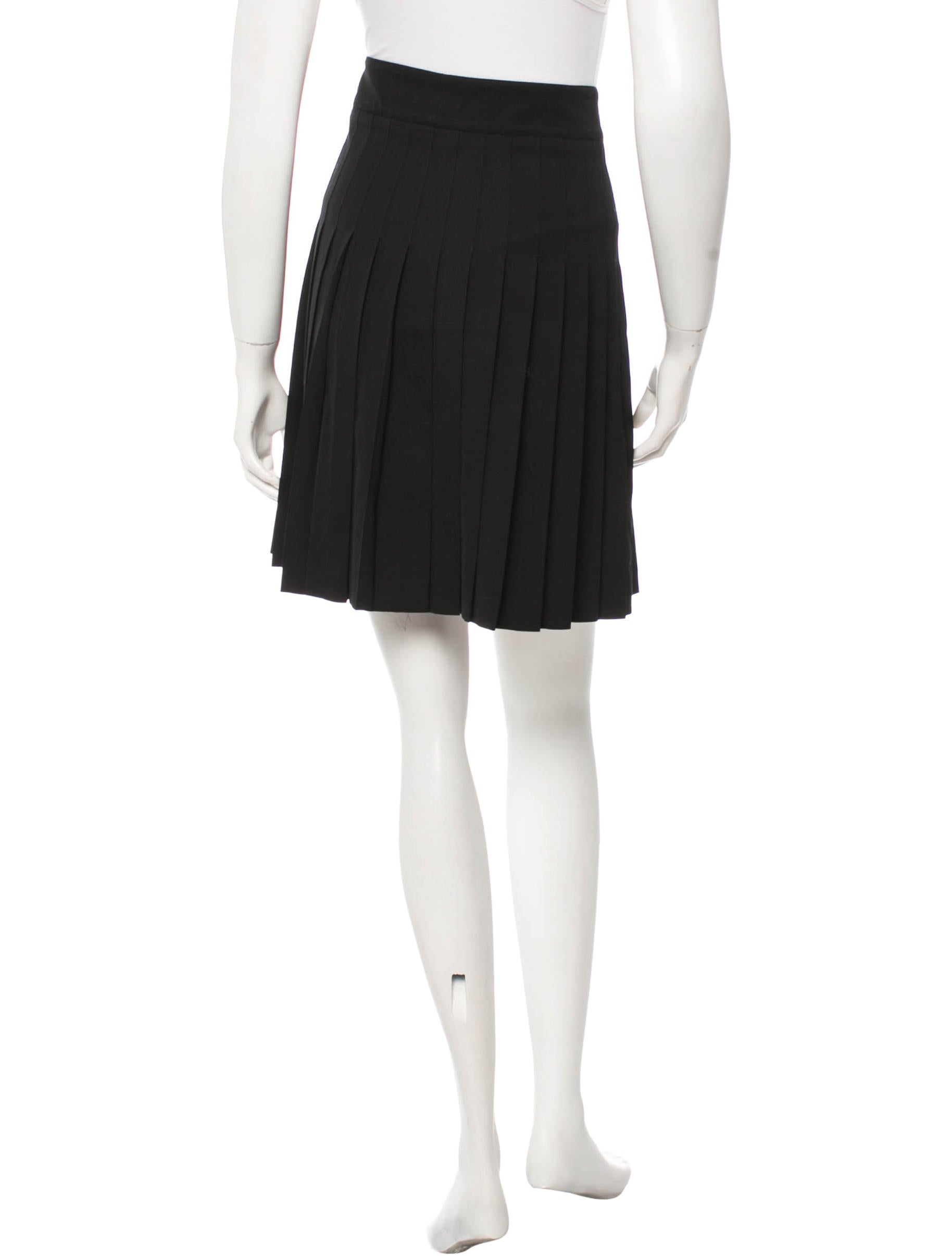 burberry pleated wool skirt clothing bur45484 the