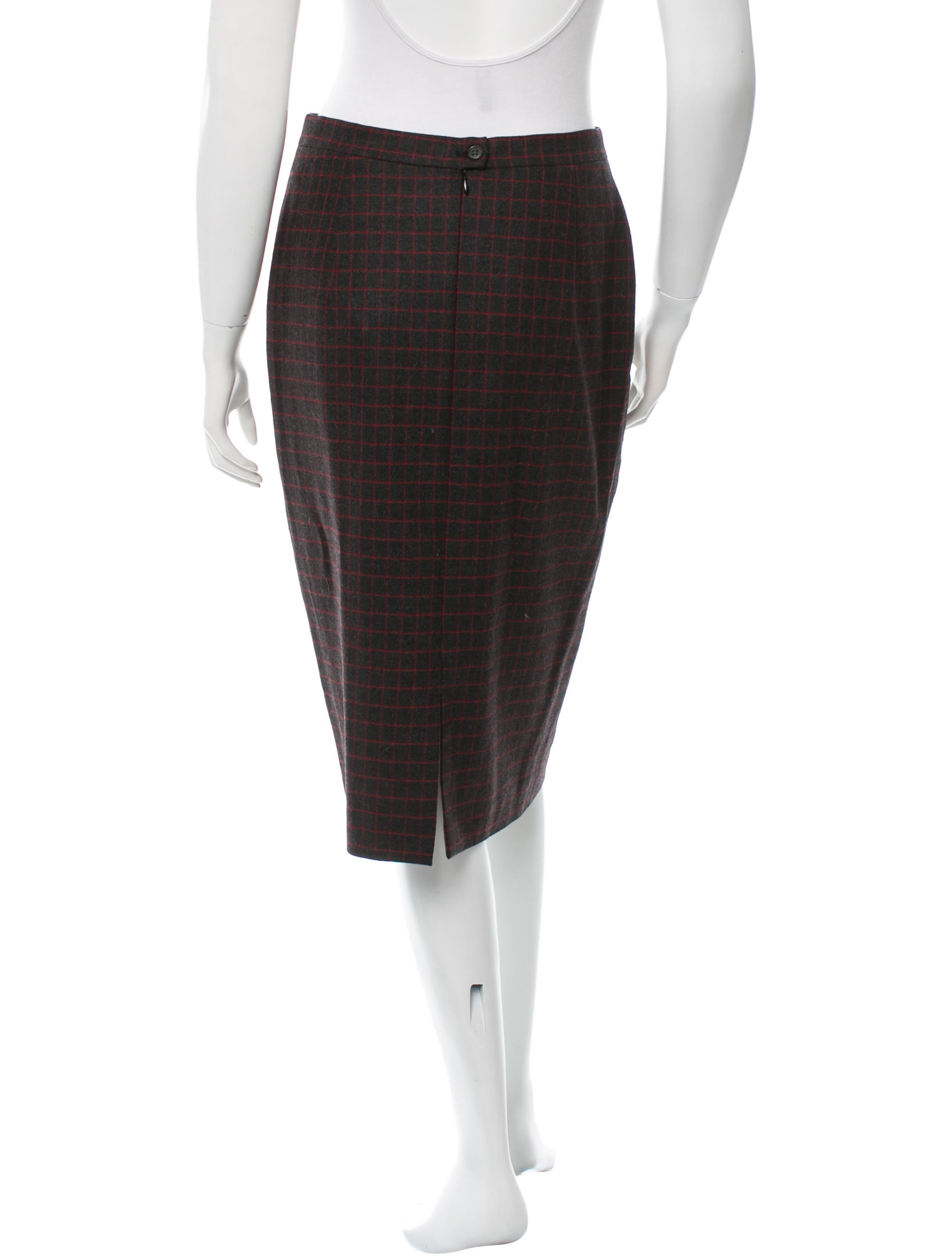 burberry patterned pencil skirt clothing bur45809