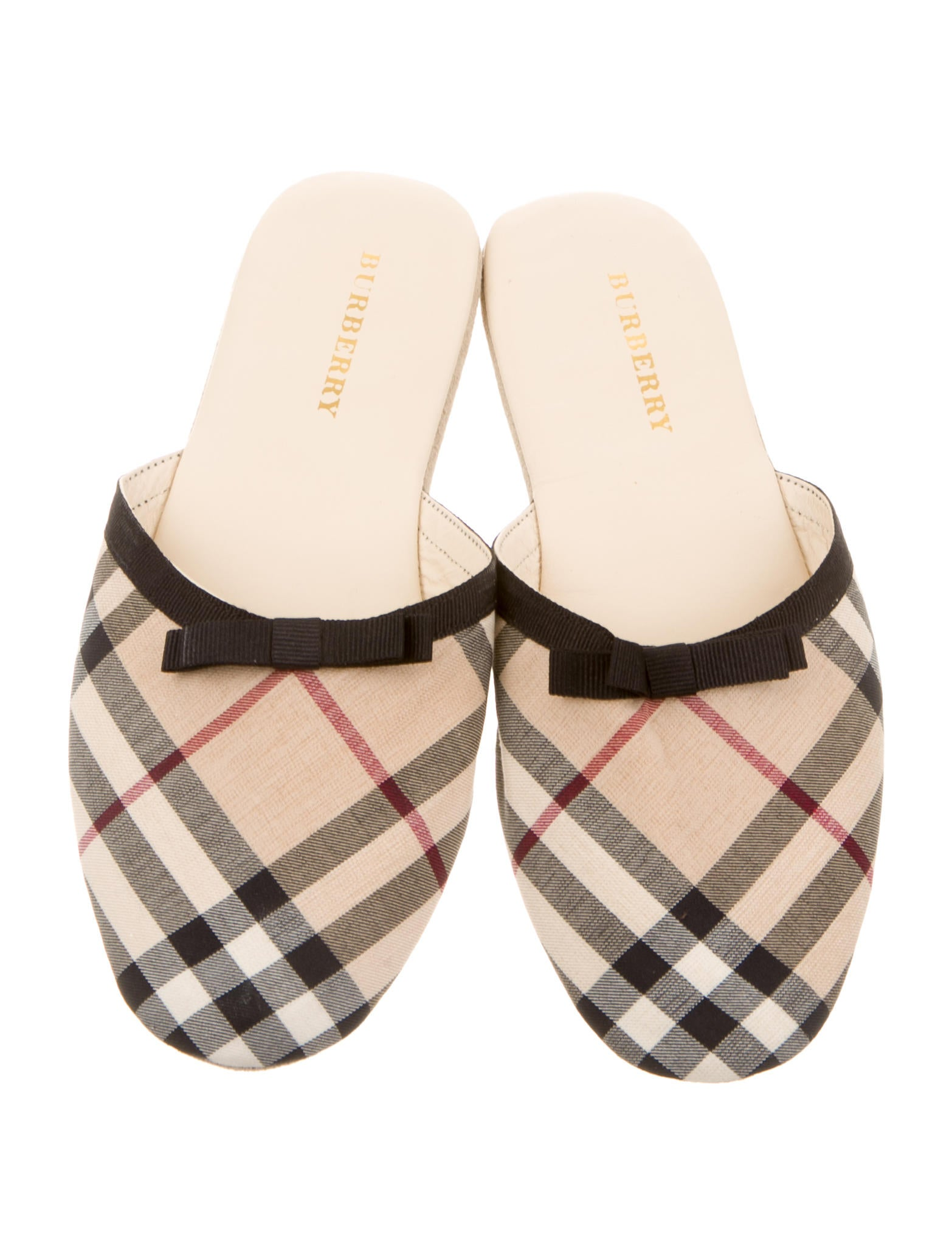 Burberry Nova Check Round-Toe Slippers release dates for sale buy cheap latest MDShzCUhH