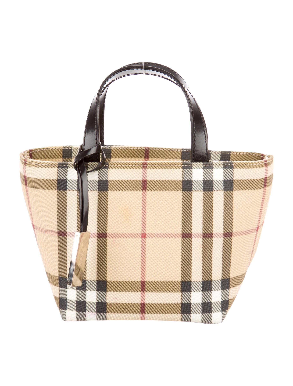90ace7e43535 Burberry Nova Check Mini Tote Bag - Handbags - BUR46086