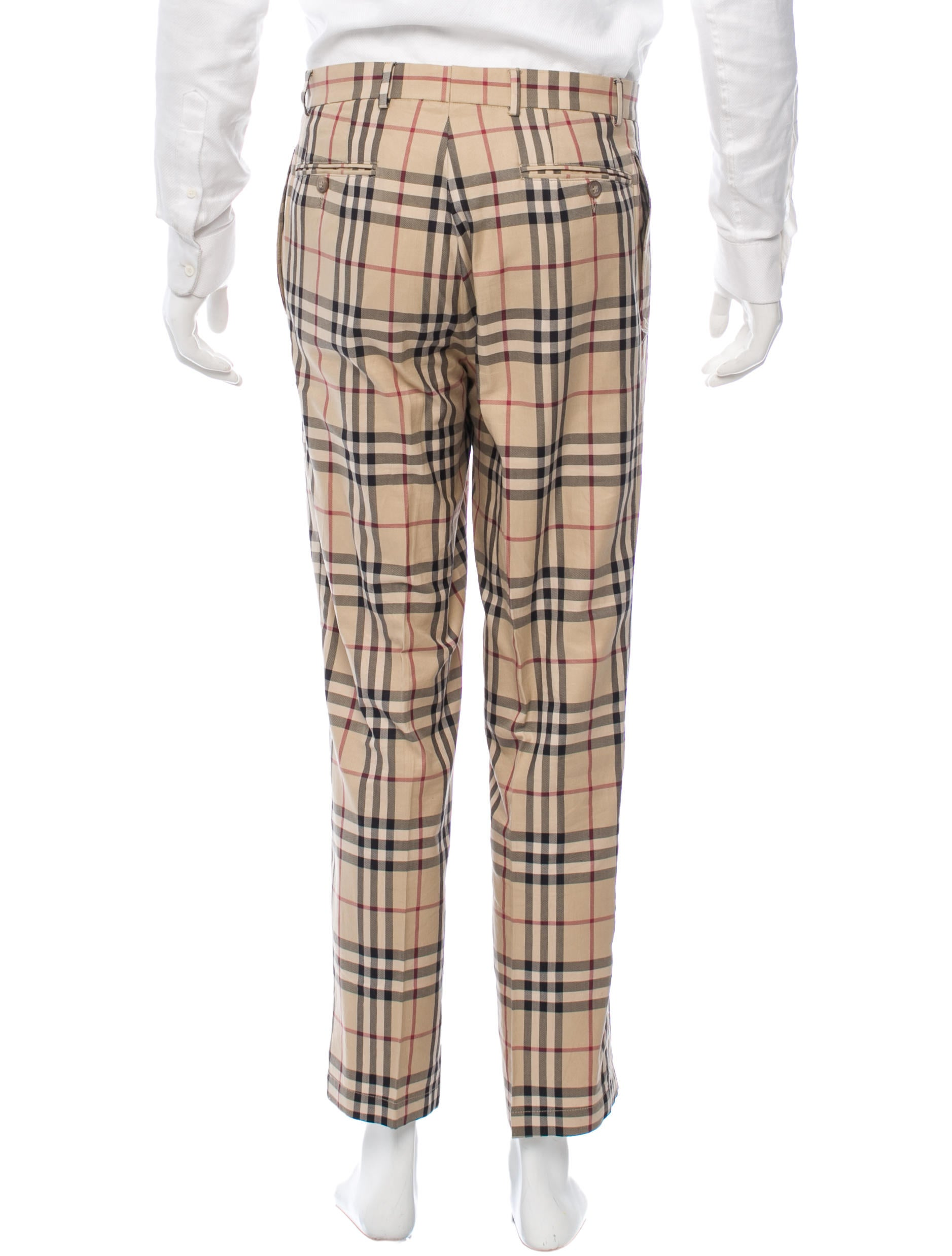 Burberry Nova Check Flat Front Pants Clothing BUR46216  : BUR462163enlarged from www.therealreal.com size 1877 x 2475 jpeg 260kB