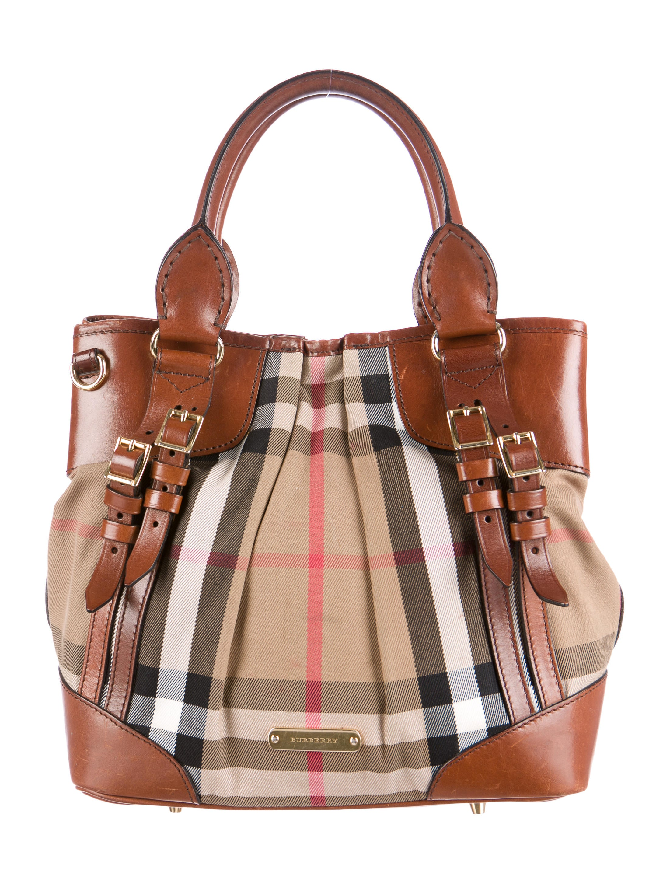 bfa30f00676 Burberry Bridle House Check Whipstitch Tote - Handbags - BUR46518 ...