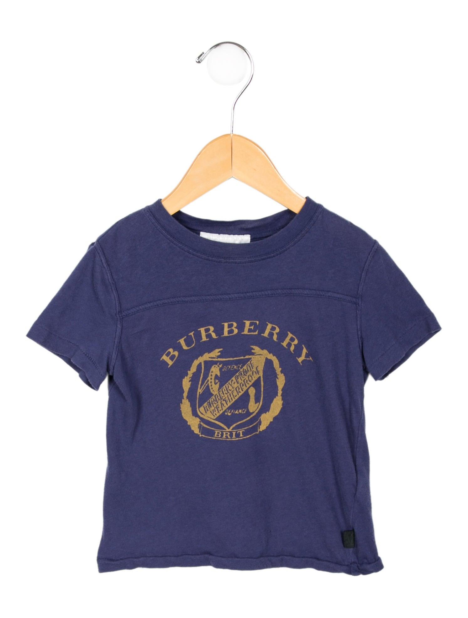 Burberry kids 39 printed crew neck t shirt girls for Toddler t shirt printing