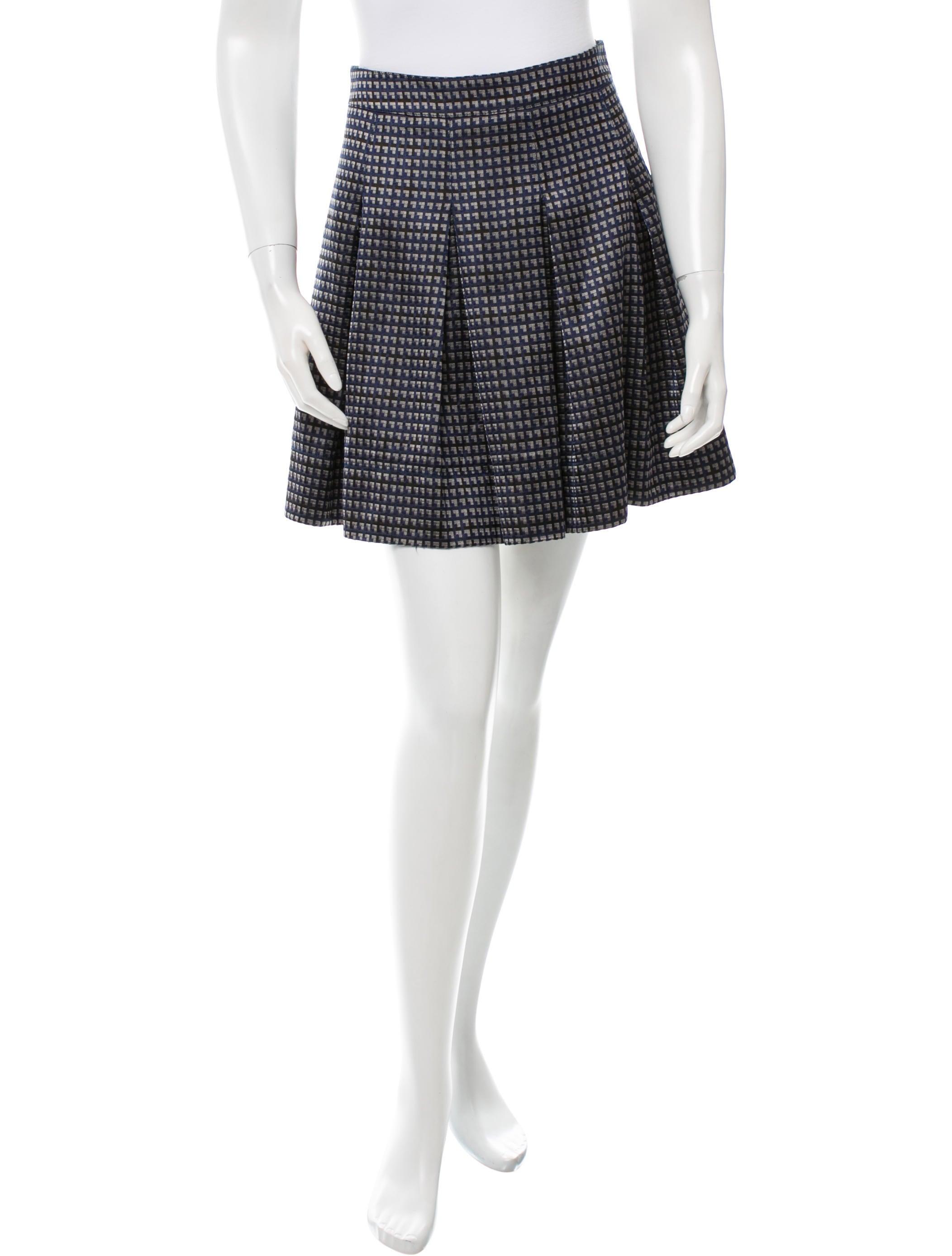 burberry jacquard pleated skirt clothing bur50050