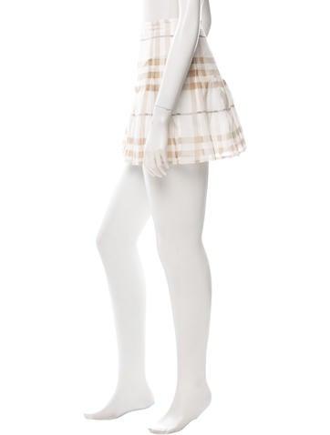 Nova Check Printed Mini Skirt