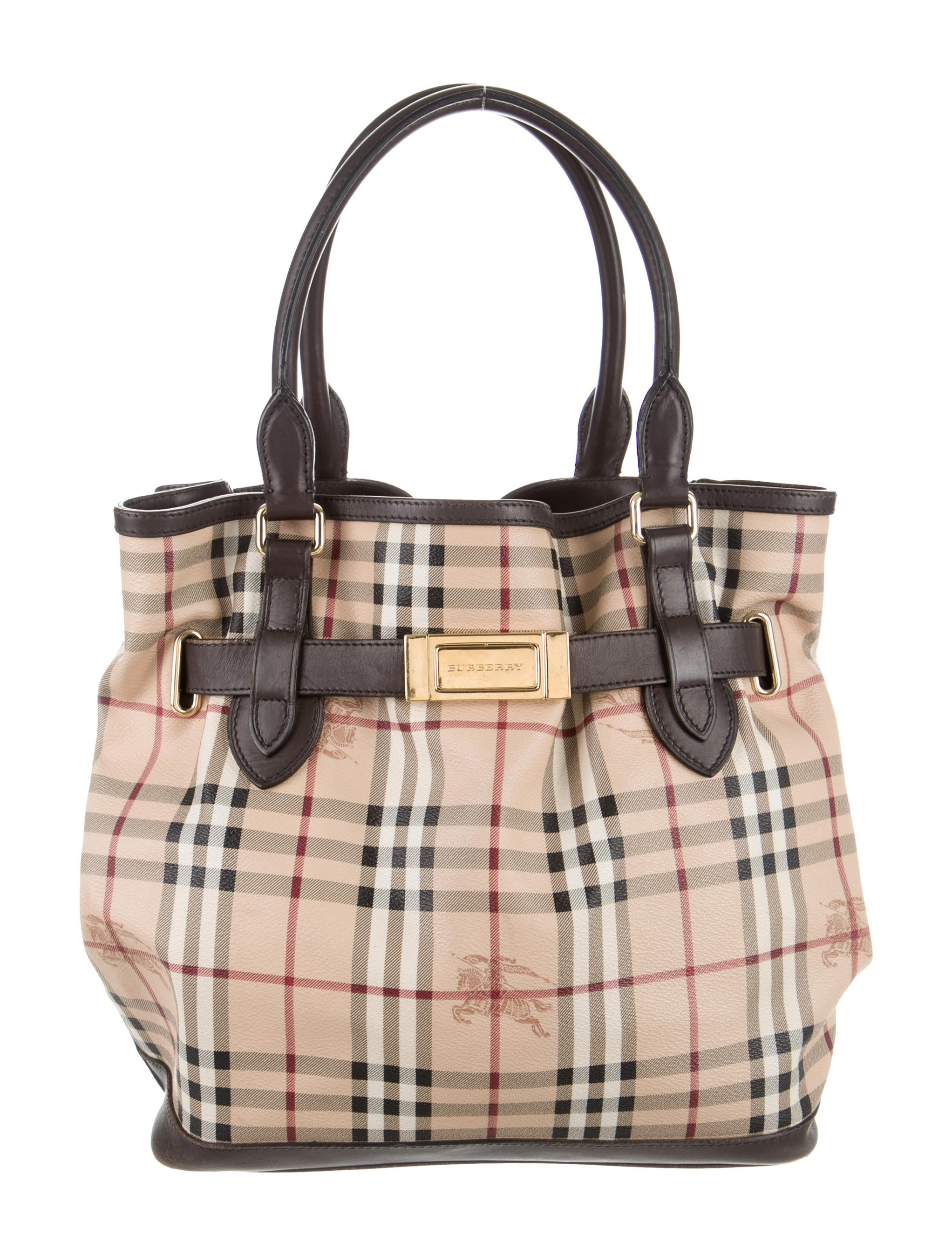 9d5250fd8221 Burberry Haymarket Medium Golderton Tote - Handbags - BUR50858