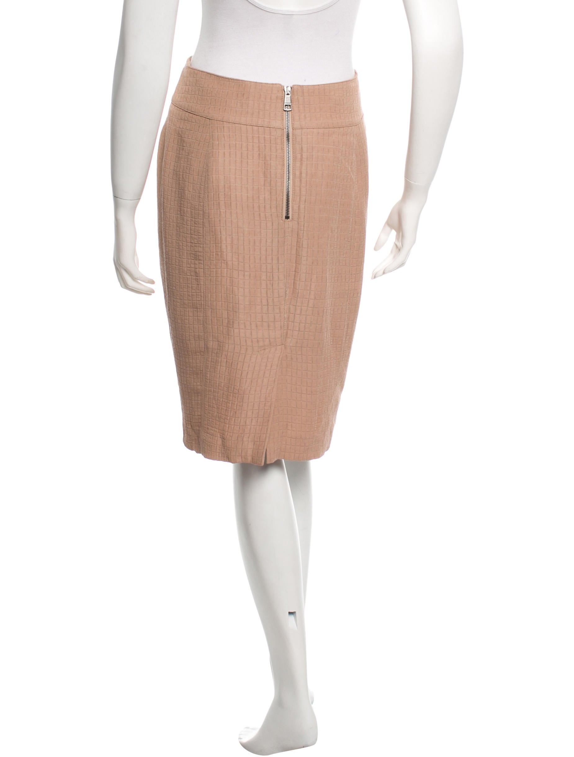 burberry geometric patterned pencil skirt clothing