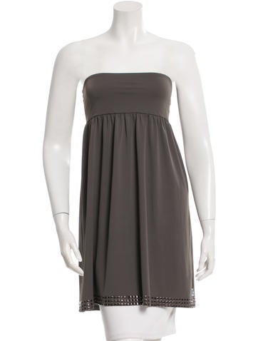 Burberry Strapless Embellished Top None