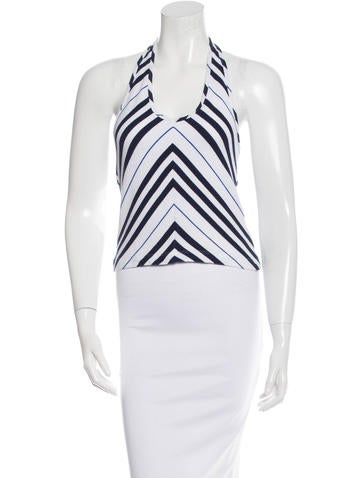 Burberry Striped Halter Top None