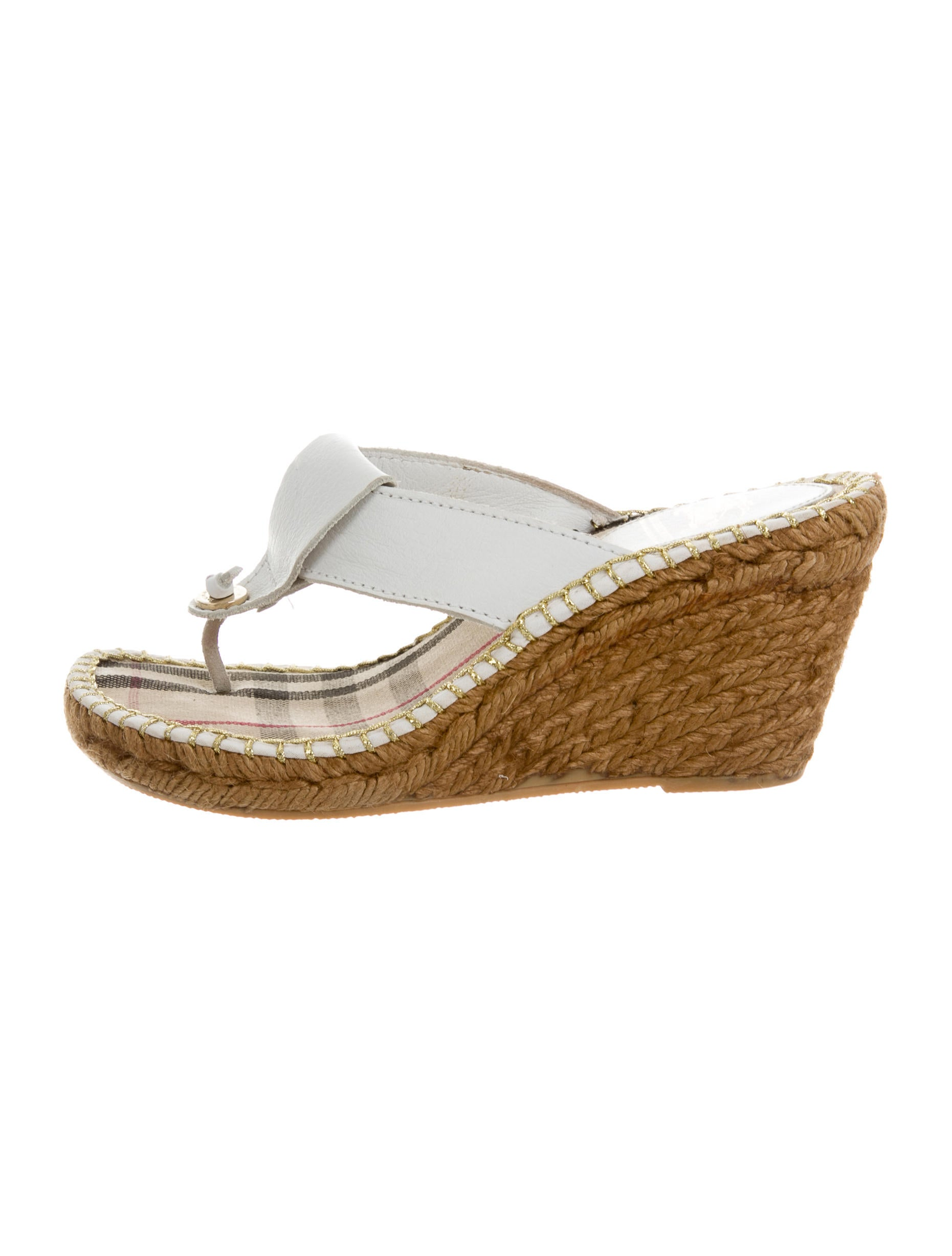 burberry leather slide wedges shoes bur56006 the