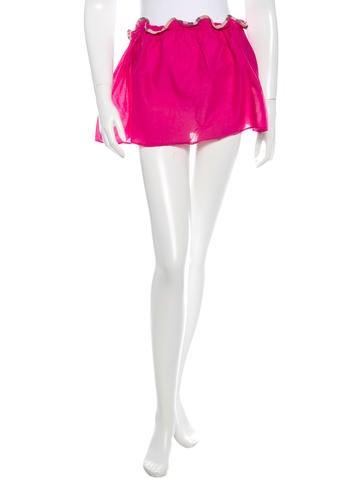 Burberry Check Trimmed Mini Skirt None