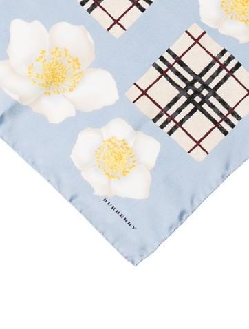 Wedding Gift Check Bounced : Burberry Floral Nova Check Silk Scarf - Accessories - BUR56890 The ...
