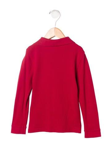 Burberry boys 39 long sleeve polo shirt boys bur57729 for Long sleeved polo shirts for boys