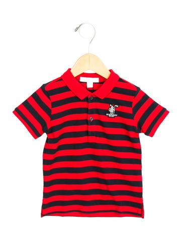 Burberry boys 39 striped polo shirt boys bur57976 the for Boys striped polo shirts