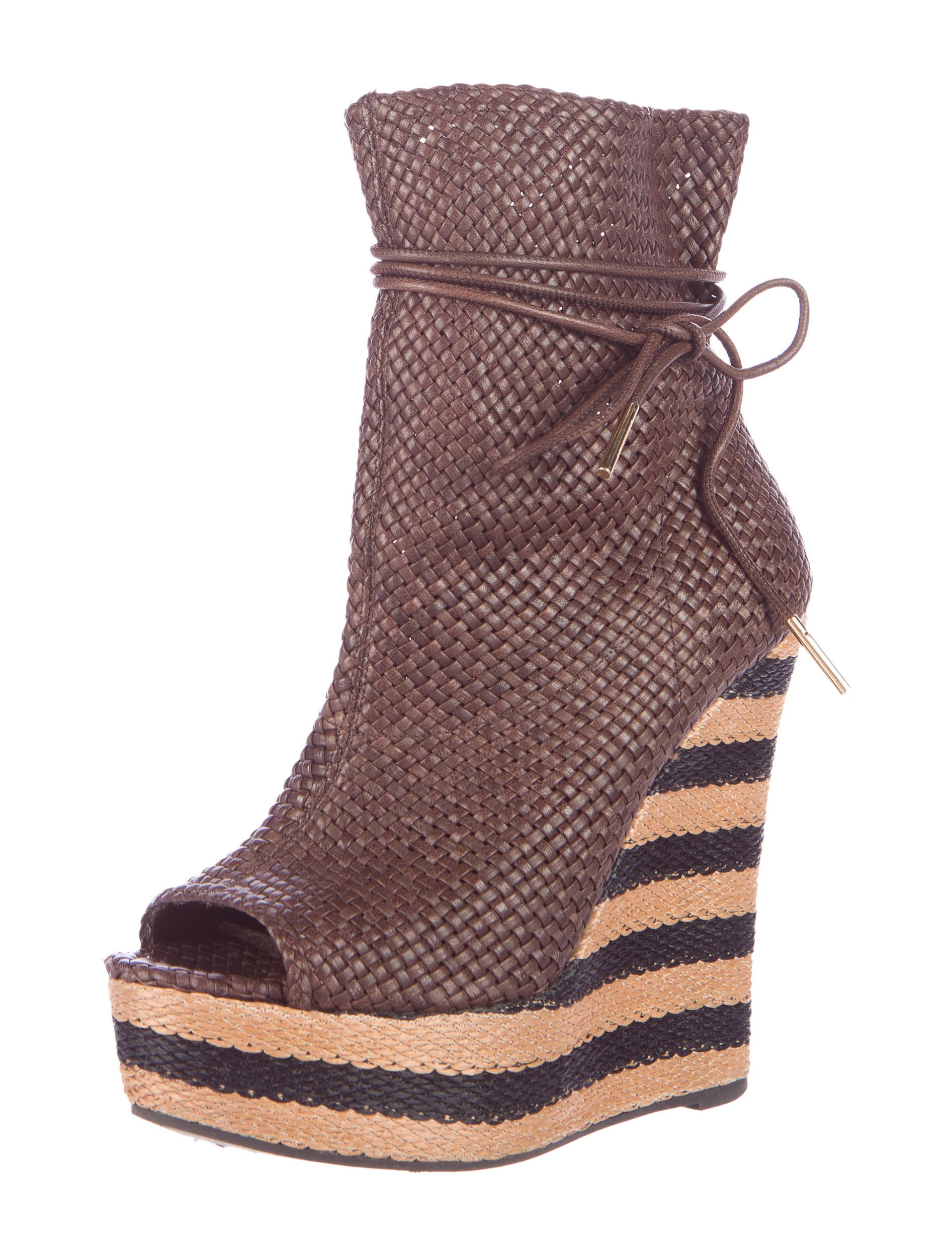 burberry woven wedge ankle boots shoes bur58053 the