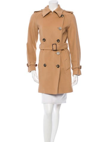 Burberry Wool & Cashmere-Blend Double-Breasted Coat