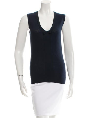 Burberry Bow-Accented Sleeveless Top None