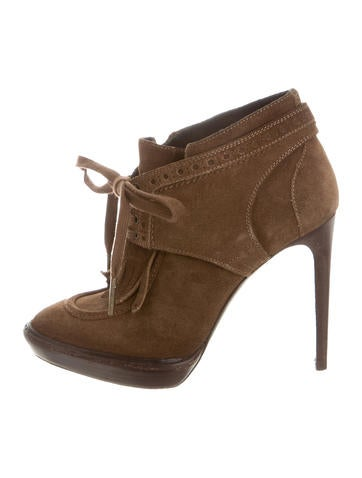 Burberry Pointed-Toe Suede Booties