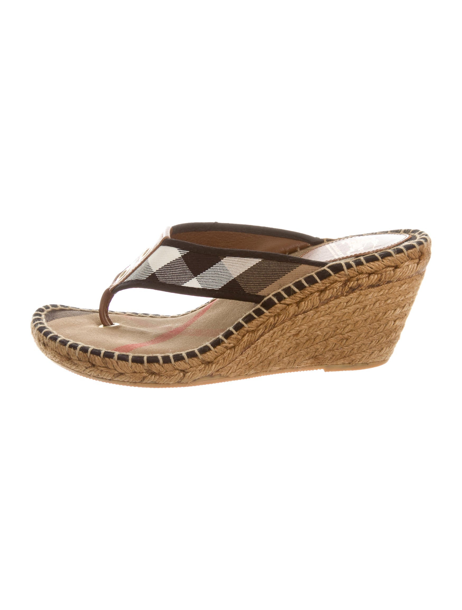 Burberry Nova Check Espadrille Sandals Shoes BUR58611  : BUR586111enlarged from www.therealreal.com size 1749 x 2308 jpeg 159kB