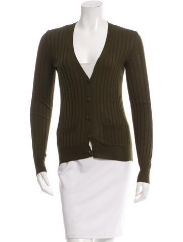 Burberry Cashmere & Silk-Blend Cardigan None