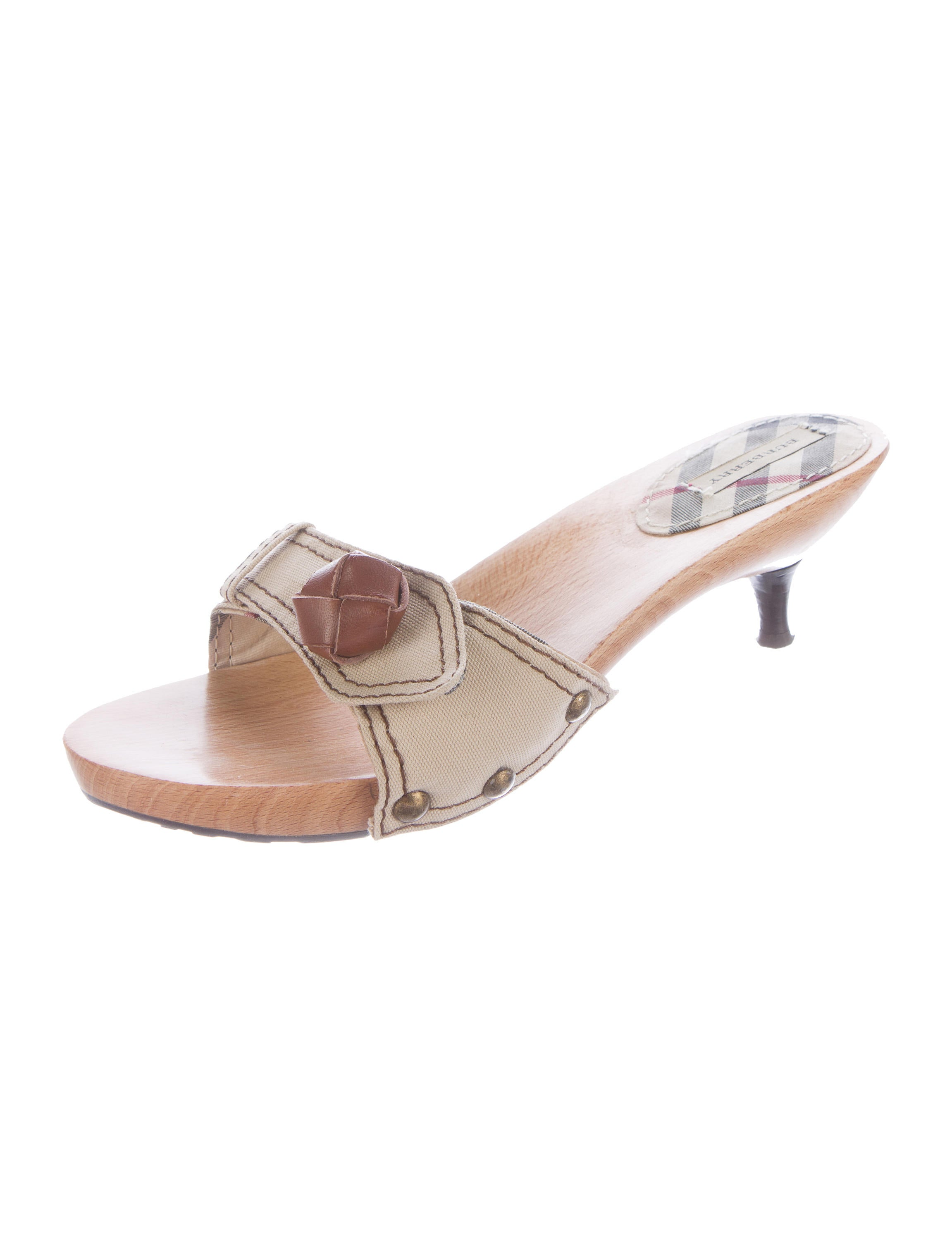 burberry canvas slide sandals shoes bur59288 the