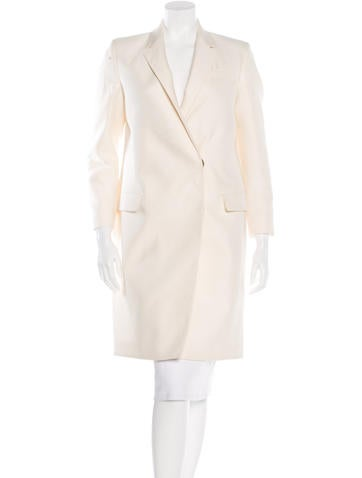 Burberry Virgin Wool Double-Breasted Coat w/ Tags None