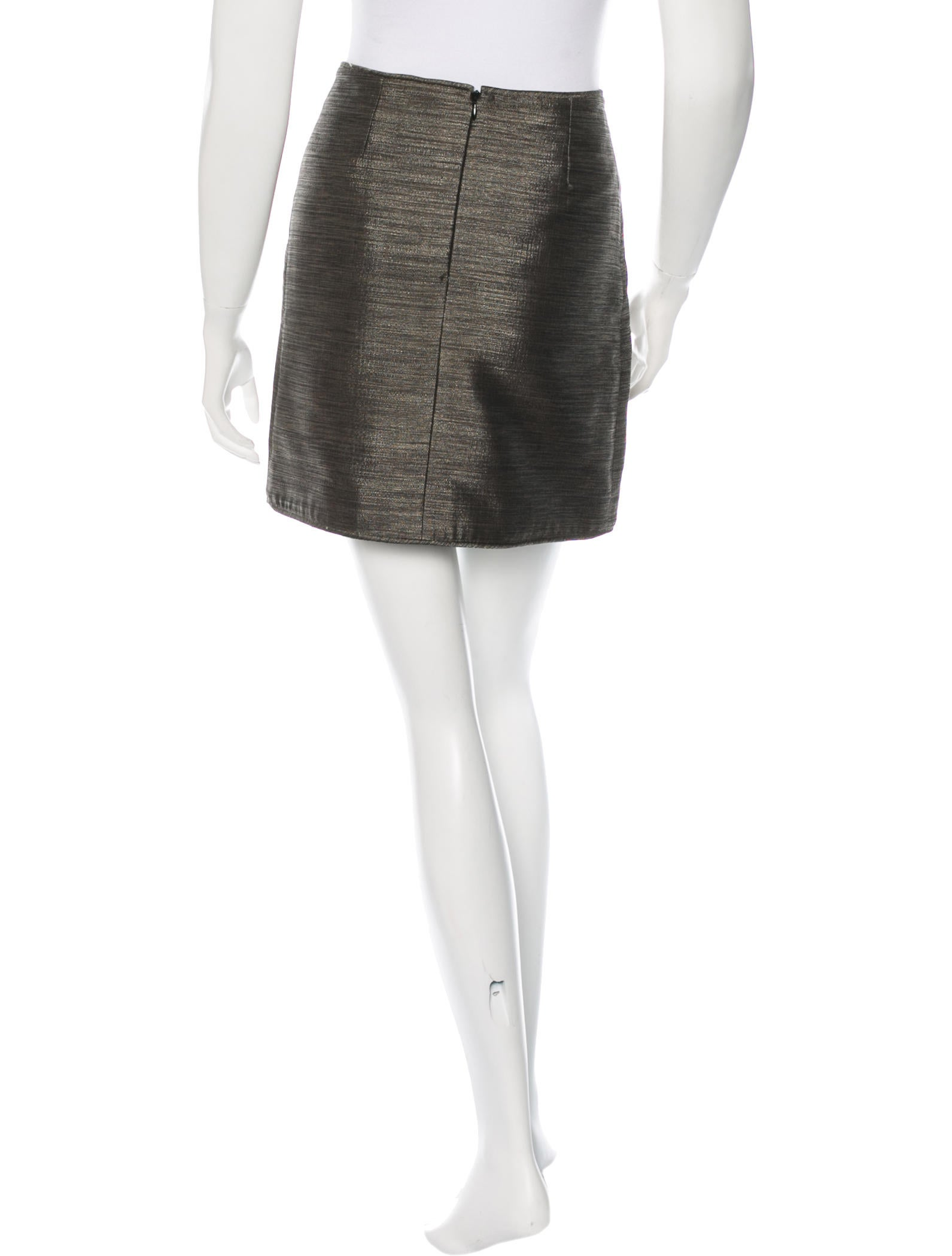 burberry metallic a line skirt clothing bur59378 the