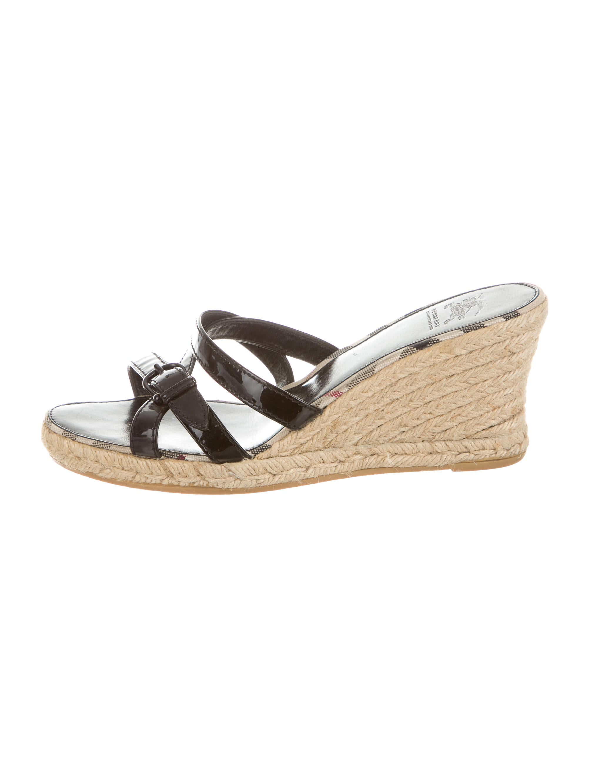 burberry patent leather wedge sandals shoes bur59832