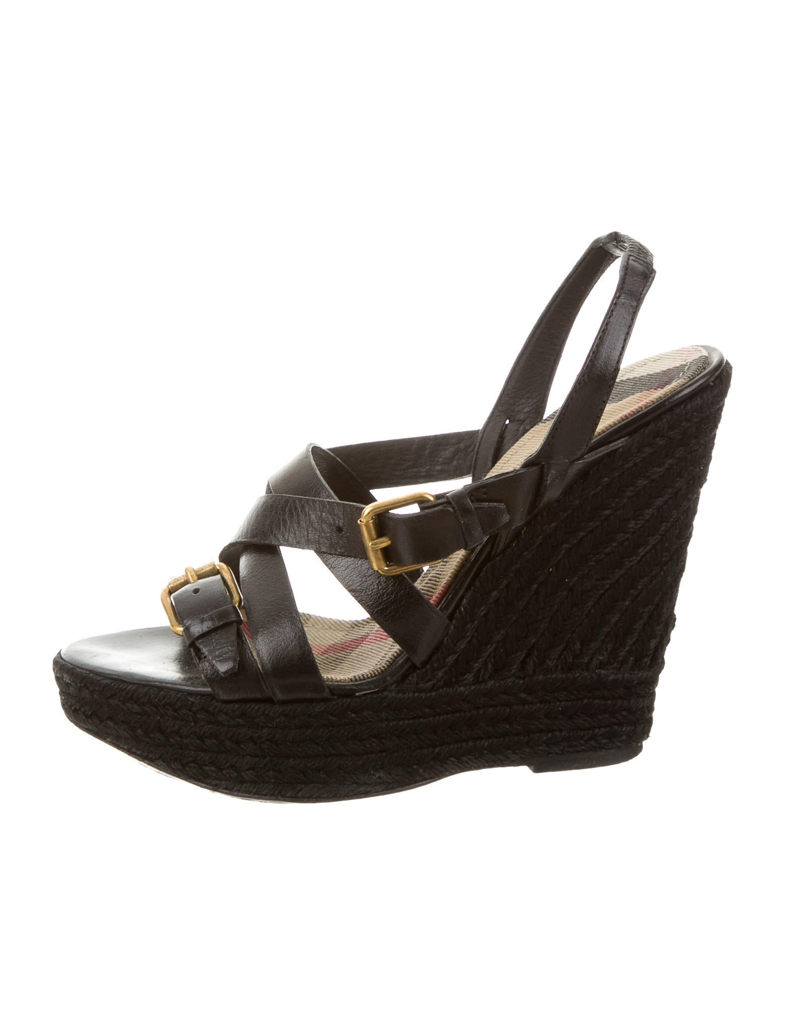 burberry leather wedge sandals shoes bur59860 the