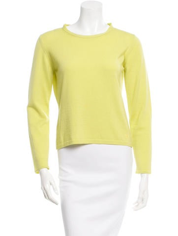 Burberry Long Sleeve Scoop Neck Sweater None