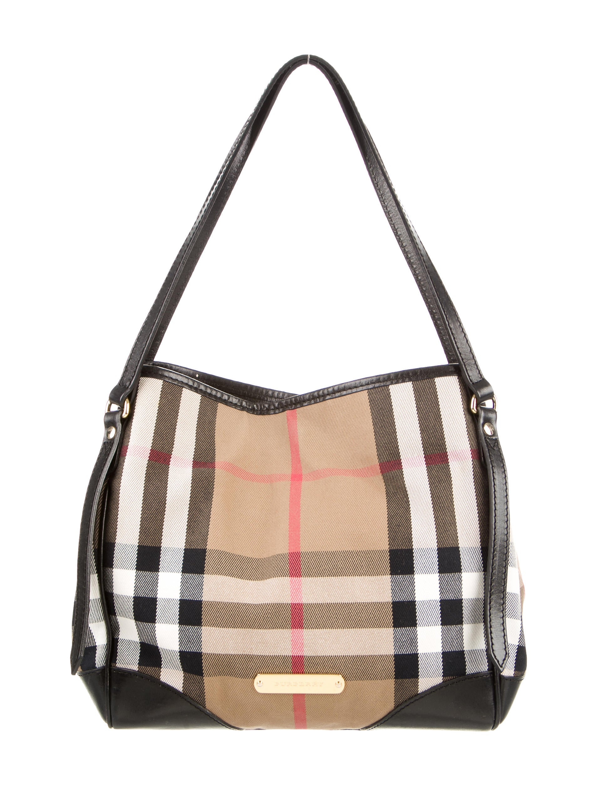 9fe469b991d2 Burberry Bridle House Check Small Canterbury Tote - Handbags ...