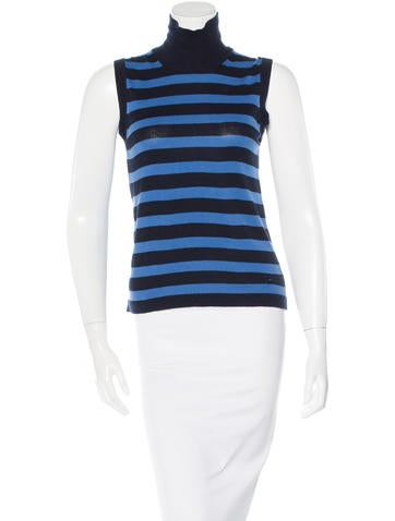 Burberry Striped Sleeveless Top None