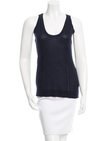 Burberry Sleeveless Cashmere Top None