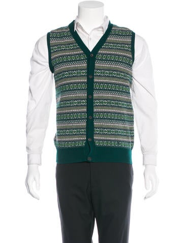 Burberry Intarsia Knit Vest None