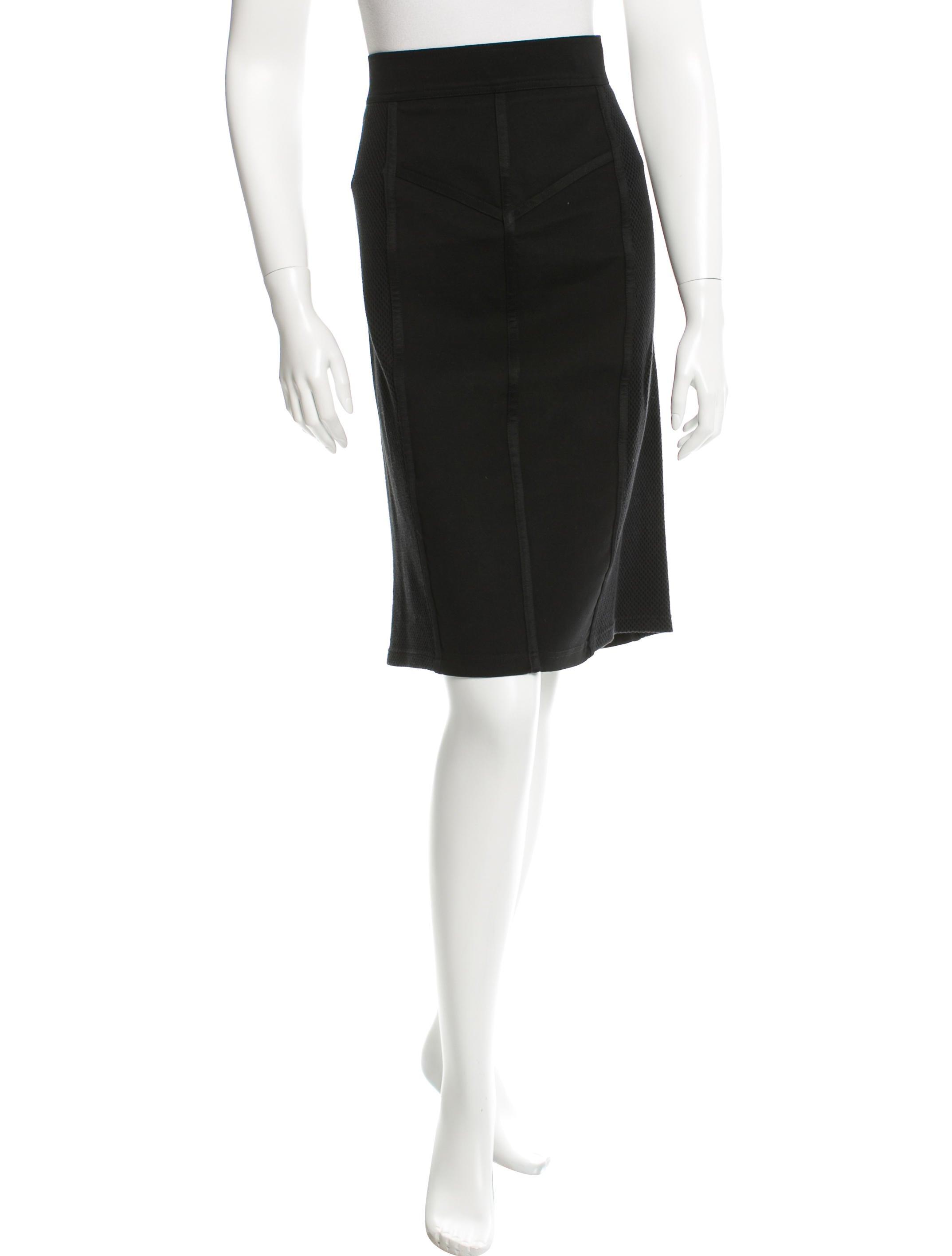 burberry knee length knit paneled skirt clothing