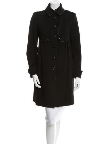 Burberry Wool & Cashmere-Blend Coat None