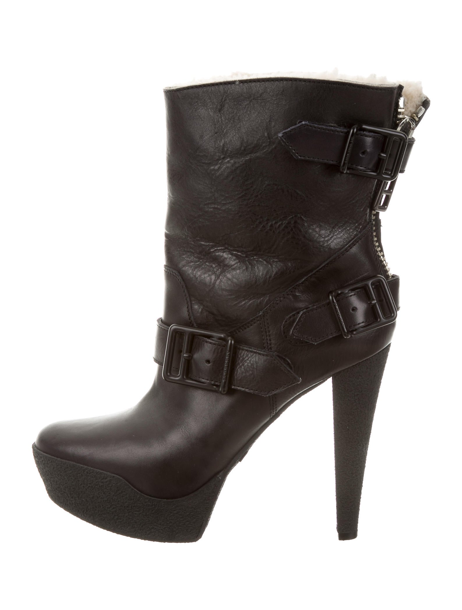 burberry shearling ankle boots shoes bur61296 the