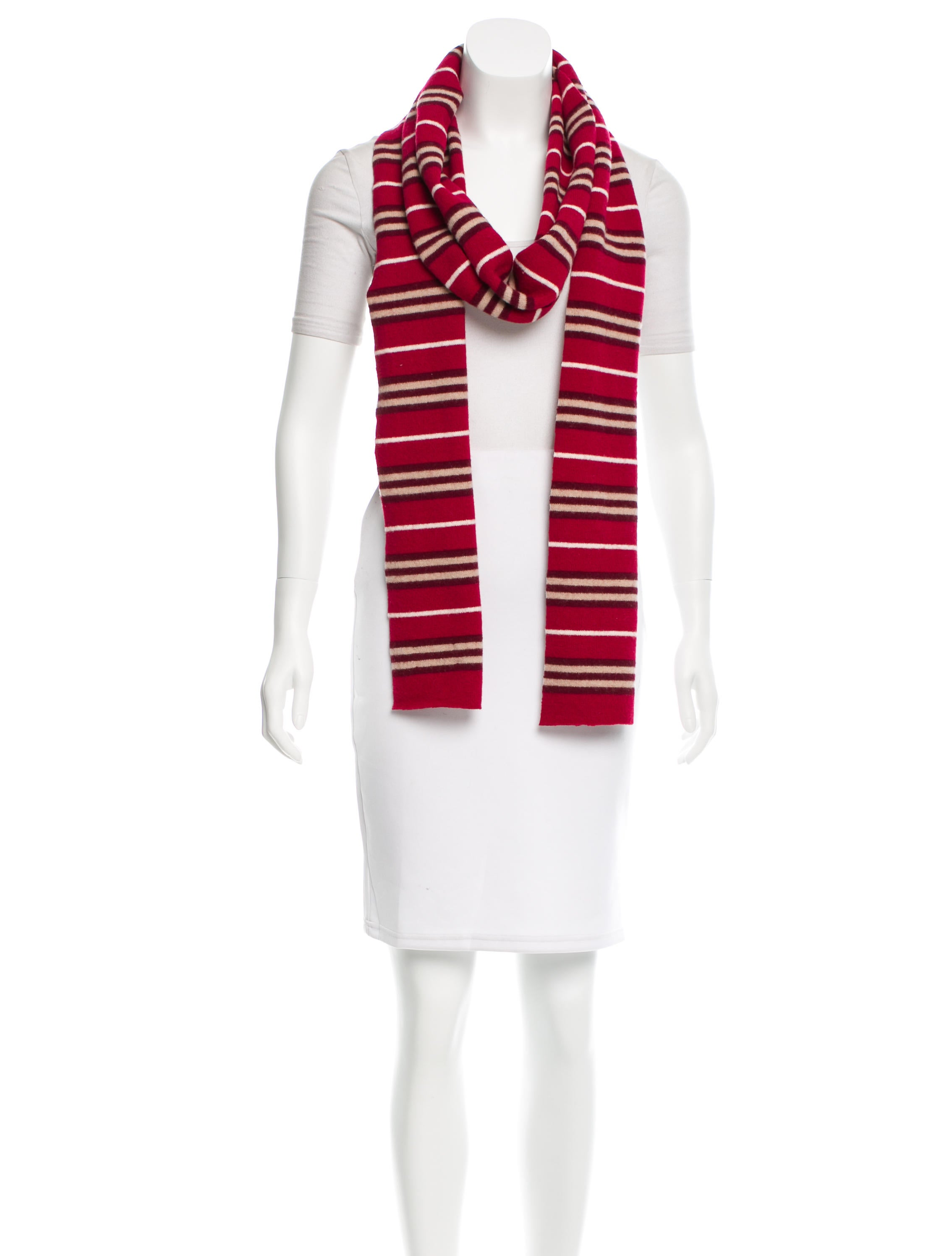 burberry wool striped scarf accessories bur61706 the