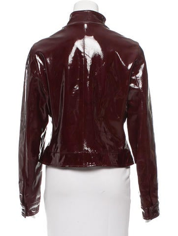 Burberry Patent Leather Jacket Clothing Bur61826 The