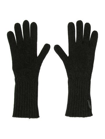 Burberry Logo Rib Knit Gloves w/ Tags None