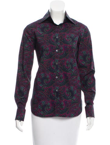 Burberry Paisley Print Top None
