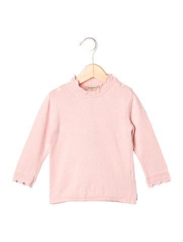 Burberry Girls' Wool-Blend Rib Knit Sweater w/ Tags None