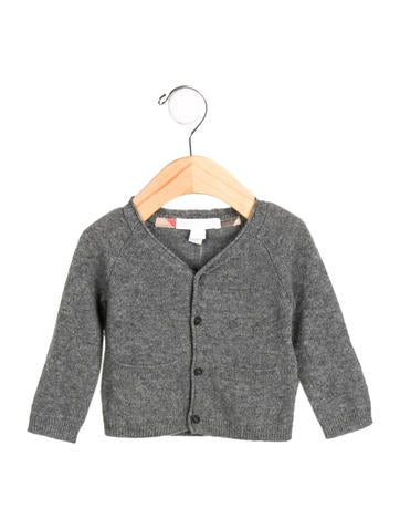 Burberry Girls' Cashmere Button-Up Cardigan w/ Tags None