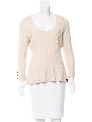 Burberry Wool Scoop Neck Sweater None