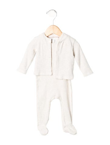 Burberry Girls' Rib Knit All-In-One Set None