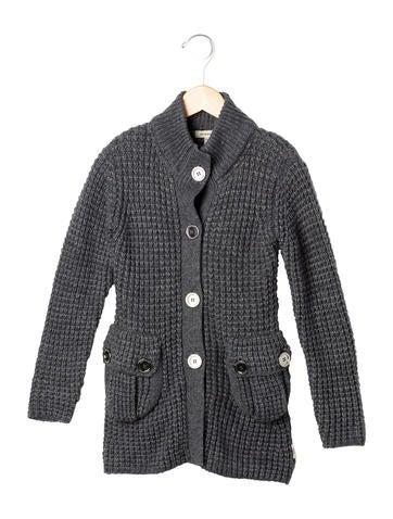 Burberry Girls' Alpaca-Blend Button-Up Cardigan None