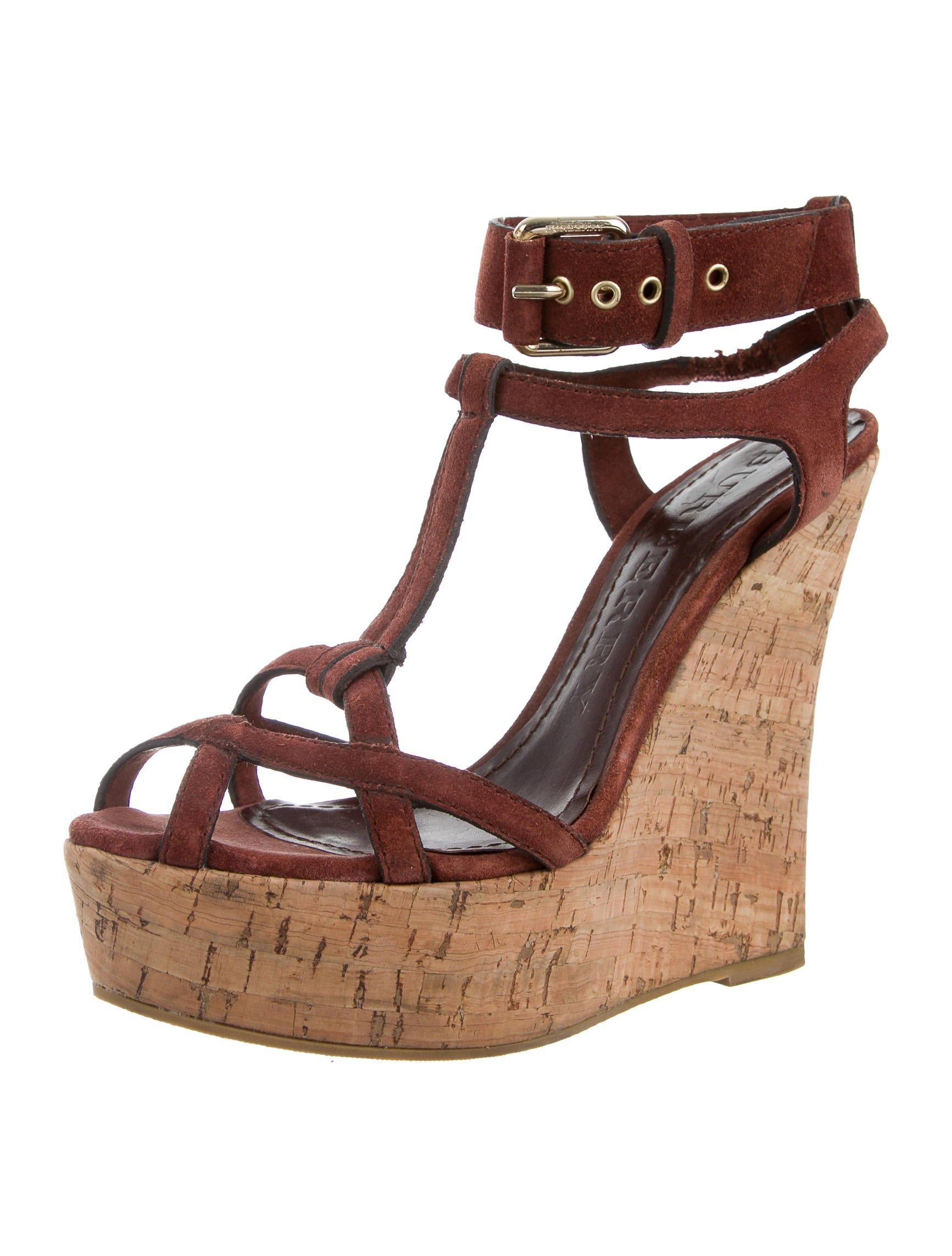 burberry suede ankle wrap wedges shoes bur62796 the